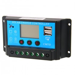 regulador solar 10A 12v LCD