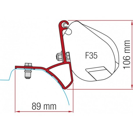 ADAPTADORES F35 TRAFIC, VIVARO, PRIMASTAR
